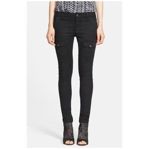 Joie so real skinny black cargo pant